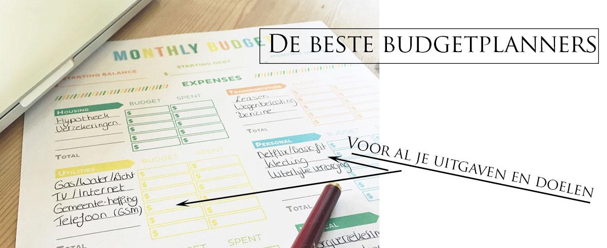 De beste, gratis budgetplanners