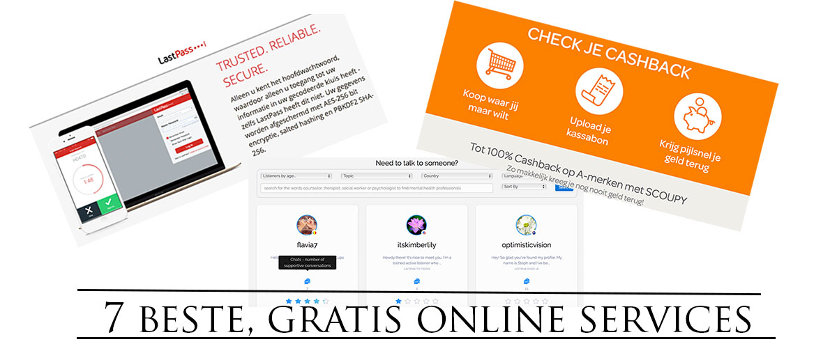 De 7 beste, gratis services via internet