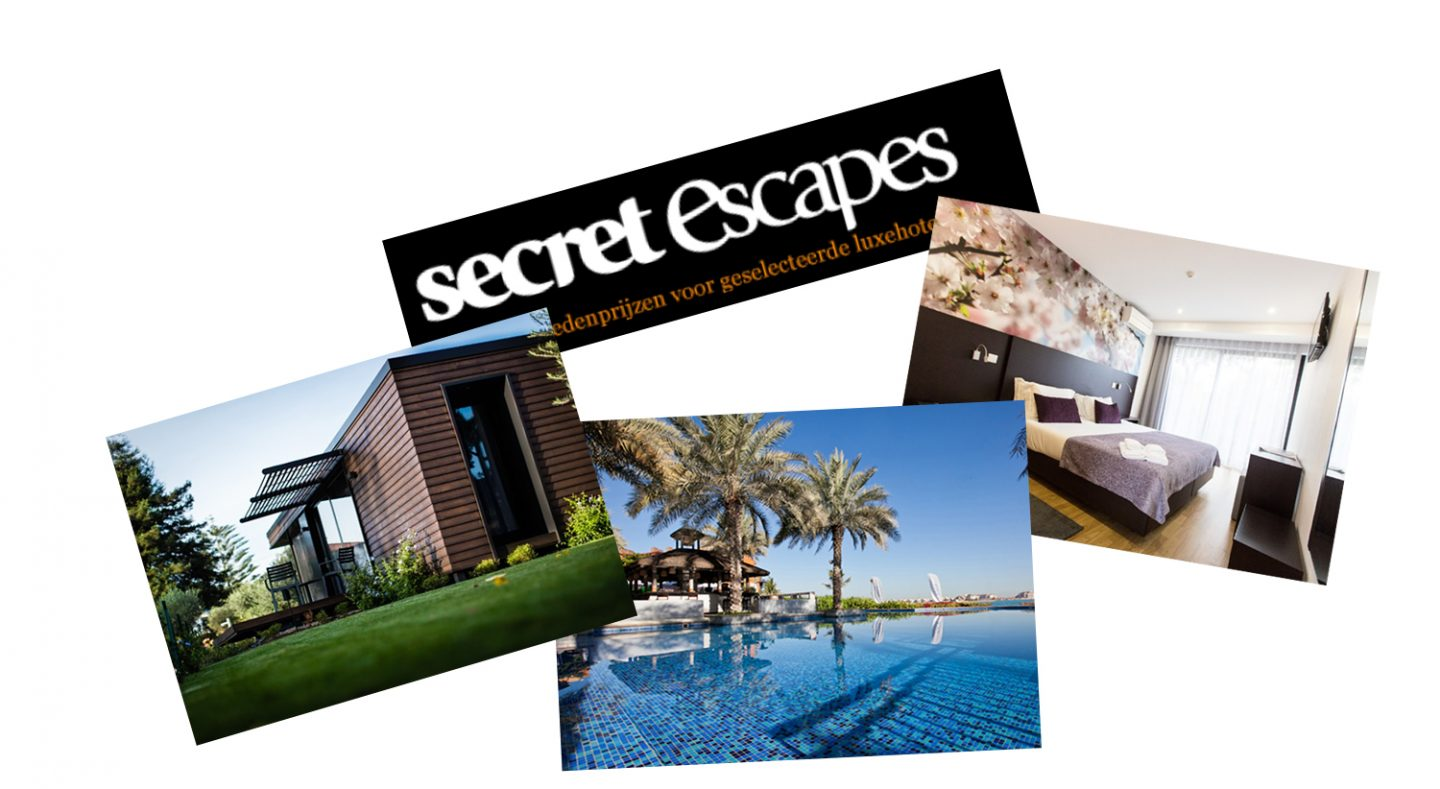 5 x Secret Escapes overnachtingen onder de €100,-