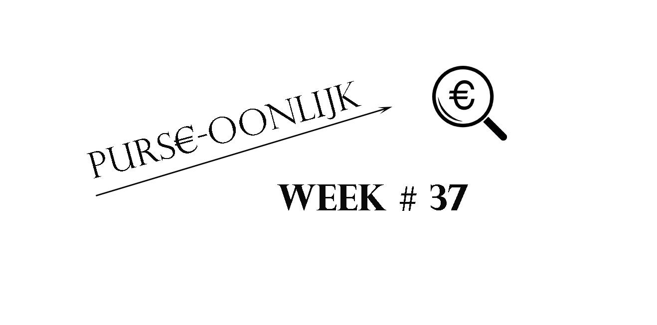 Purse-Oonlijk: Week 37
