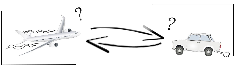 auto of vliegvakantie