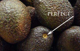 eetrijpe avocado pit