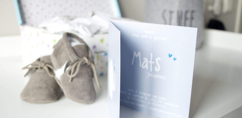 Het geboortekaartje van Mats
