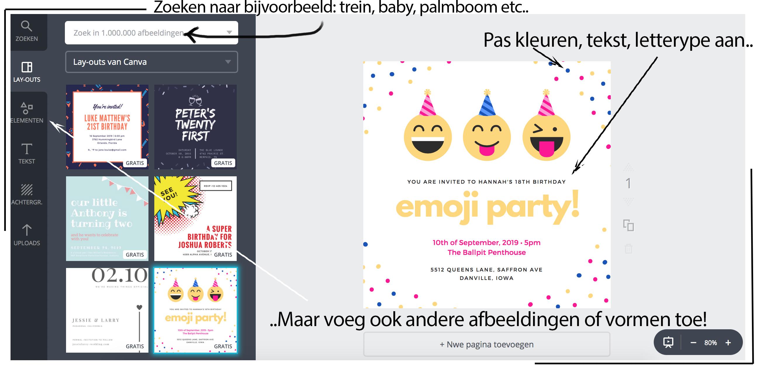 online uitnodigingen maken gratis