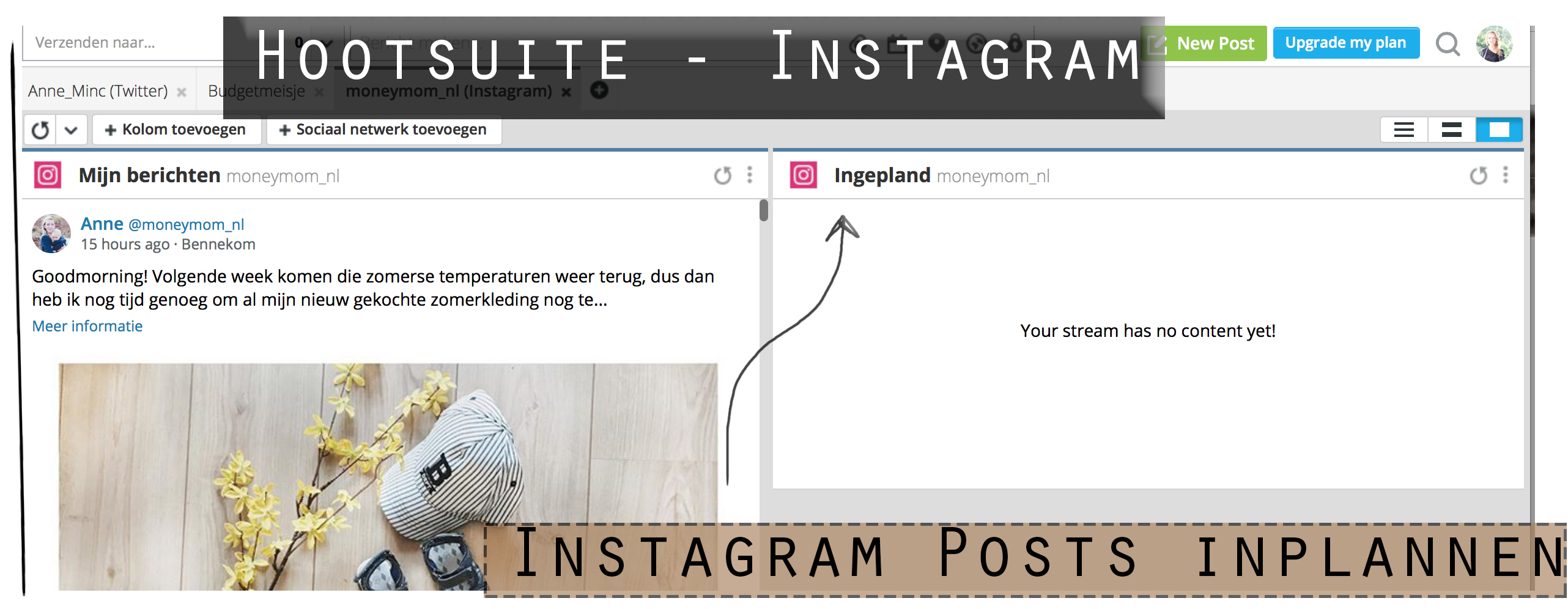 instagram inplannen